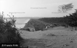 Wells-Next-The-Sea, Embankment From The Lifeboat Station 1950