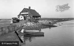 Wells-Next-The-Sea, Old Boat  House And Embankment 1950