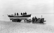Wells-next-the-Sea, the Motor Life-boat with 'Roadless' Tractor c1935