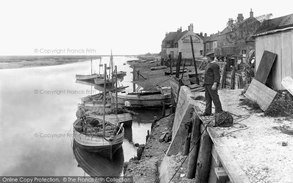 Photo of Wells Next The Sea, Whelk Boats At The Quay 1929