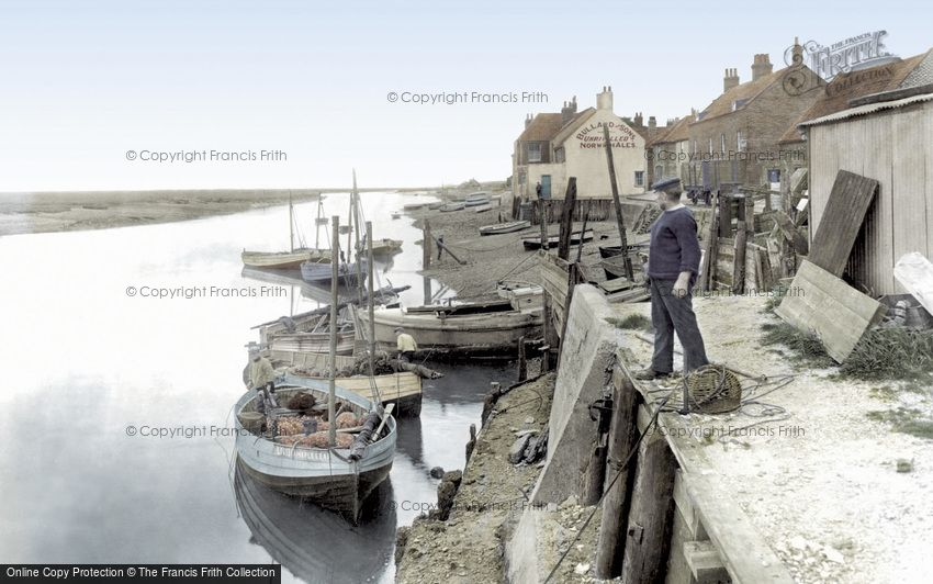 Wells-next-the-Sea, Whelk Boats at the Quay 1929