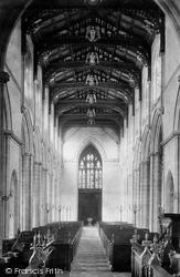 Wells, St Cuthbert's Church, Nave West 1890