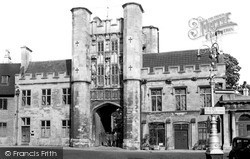 Wells, The Bishop's Eye Gateway c.1950
