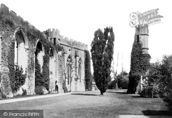 Wells, The Bishop's Palace, The Ruins 1890