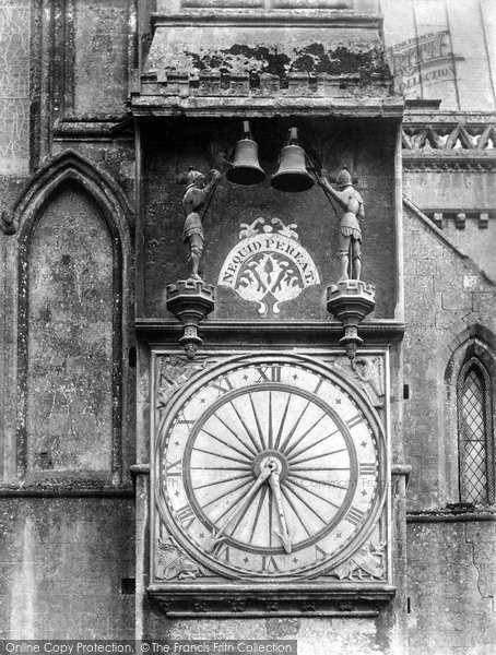 Photo of Wells, The Cathedral Clock 1906