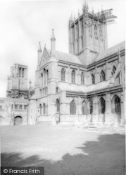 Wells, The Cathedral, East Front 1964