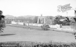 Wells, The Cathedral From Tor Hill 1955