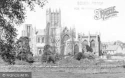 Wells, The Cathedral From Tor Hill c.1955