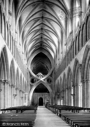 Wells, The Cathedral, The Nave Looking East 1890