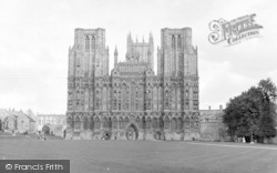 Wells, The Cathedral, West Front 1950