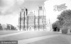 Wells, The Cathedral, West Front 1964
