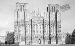 Wells, The Cathedral, West Front c.1945