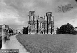 Wells, The Cathedral, West Front c.1950