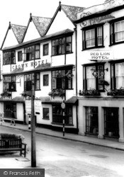 Wells, The Crown And Red Lion Hotels 1964