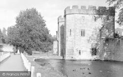 Wells, The Drawbridge And Moat c.1950