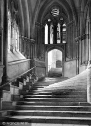 Wells, The Steps To The Chapter House c.1900