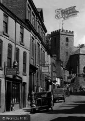 Welshpool, Church Street Businesses c.1955