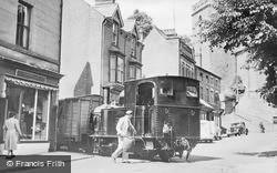 Welshpool, Church Street, Llanfair Train Crossing c.1955