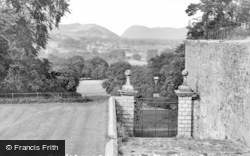 Welshpool, From The Bowling Green c.1960