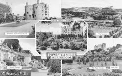 Welshpool, Powis Castle Composite c.1960