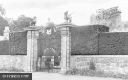 Welshpool, Powis Castle, From Main Garden Gate c.1955