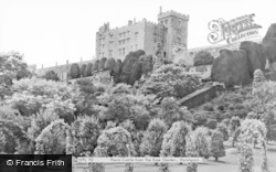 Welshpool, Powis Castle Fromt He Rose Garden c.1960