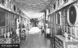 Welshpool, Powis Castle, The Elizabethan Gallery c.1955