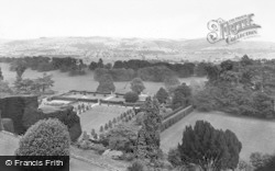 Welshpool, Powis Castle, View From The Sundial Terrace c.1955