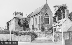 Welshpool, St Mary's Church And Grace Evans Cottage c.1960