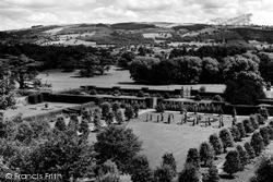 Welshpool, View Showing Powis Castle Gardens c.1960