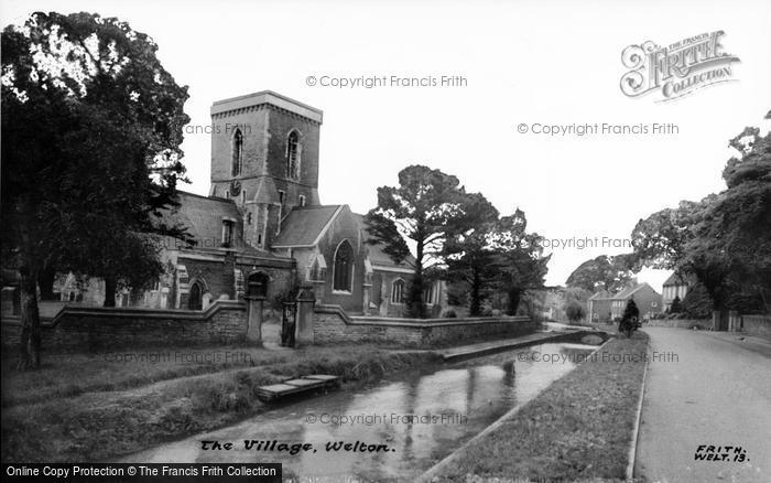Photo of Welton, The Village And St Helen's Church c.1960