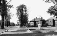 Welwyn Garden City, Memorial And Hollybush Lane c.1955