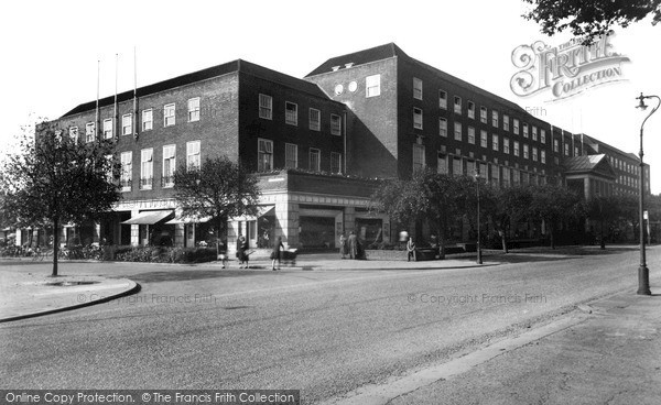 Photo of Welwyn Garden City, Welwyn Stores c1955, ref. W294020