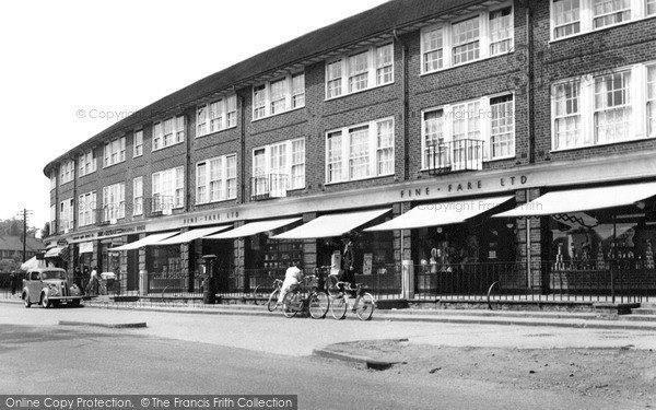 Photo of Welwyn Garden City, Woodhall Gardens 1955, ref. W294029