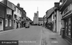 High Street And Church c.1965, Welwyn