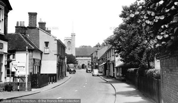 Photo of Welwyn, High Street c1955, ref. W293006