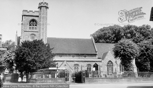 Photo of Welwyn, St Mary's Church c1955, ref. W293005