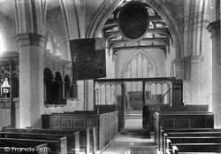 Wensley, Church Interior 1906