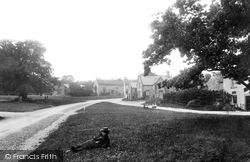 Wensley, Green And Post Office 1893