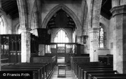 Wensley, Parish Church Interior c.1955