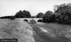 Wensley, The River And Bridge c.1960