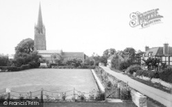 Weobley, Church And Bowling Green c.1955