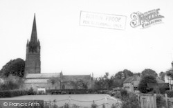 Weobley, The Bowling Green And Church c.1960