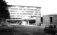 West Byfleet, Shopping Centre and Library c1965
