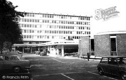 West Byfleet, Shopping Centre And Library c.1965