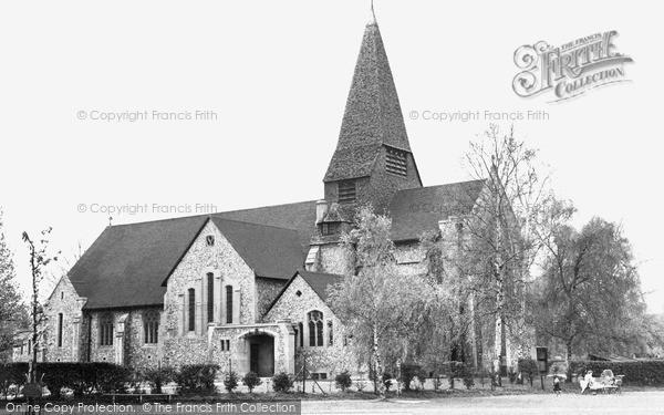 Photo of West Byfleet, St John's Church c1955