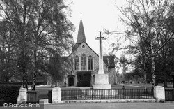 West Byfleet, St John The Baptist And War Memorial c.1955
