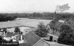 St John The Baptist's Church And Playing Field c.1965, West Byfleet