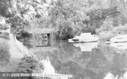 West Byfleet, The River And Bridge c.1965