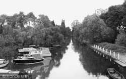The River Wey c.1965, West Byfleet